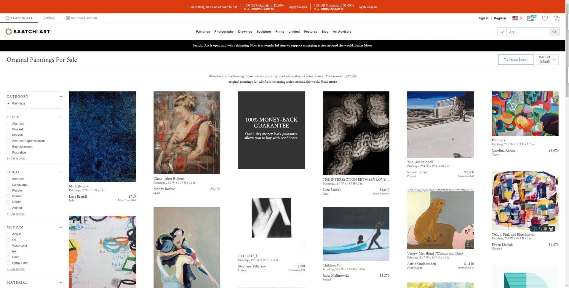 艺术画行业网站模版