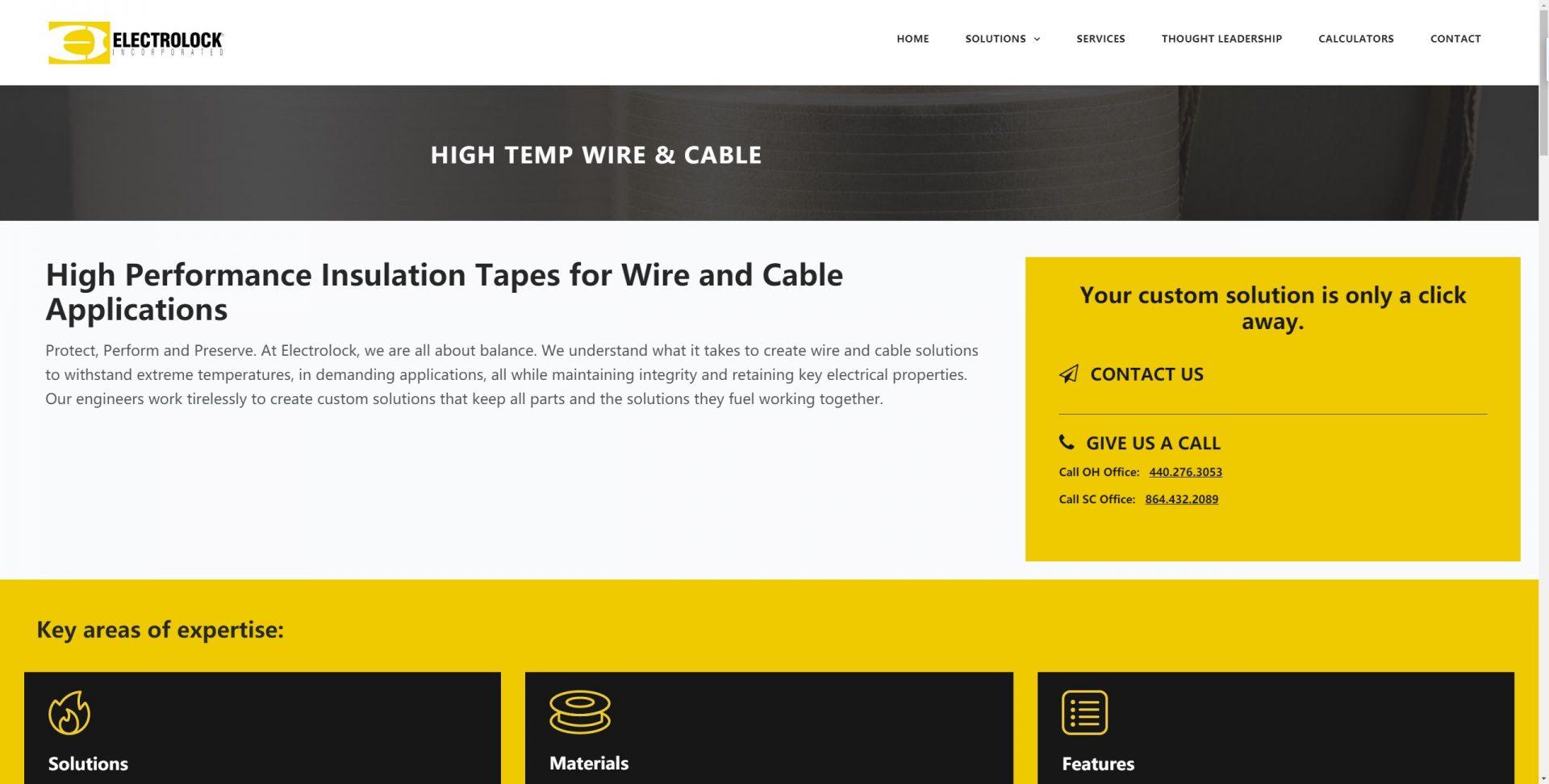高温电缆网站案例
